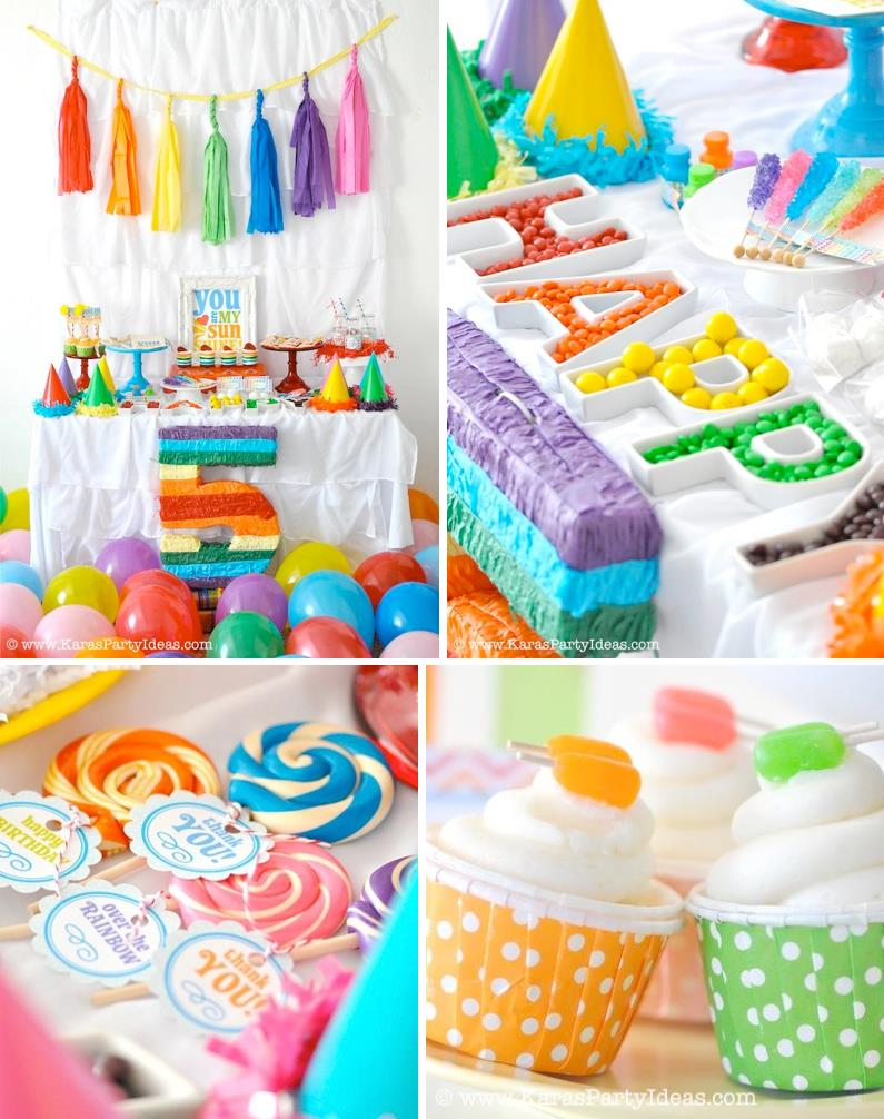 themed birthday party supplies ; Rainbow-Themed-birthday-party-with-SO-many-ideas-Cute-printable-party-pack-Via-Karas-Party-Ideas-KarasParty-Ideas