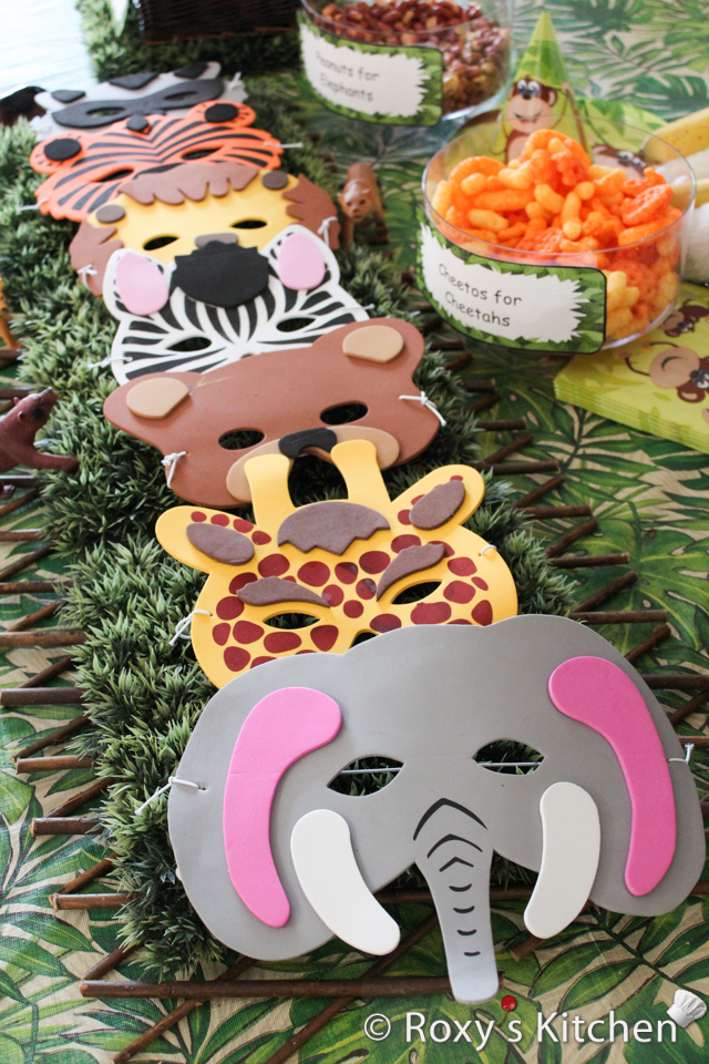 themed birthday party supplies ; Safari-Jungle-Animals-1st-Birthday-Party-44