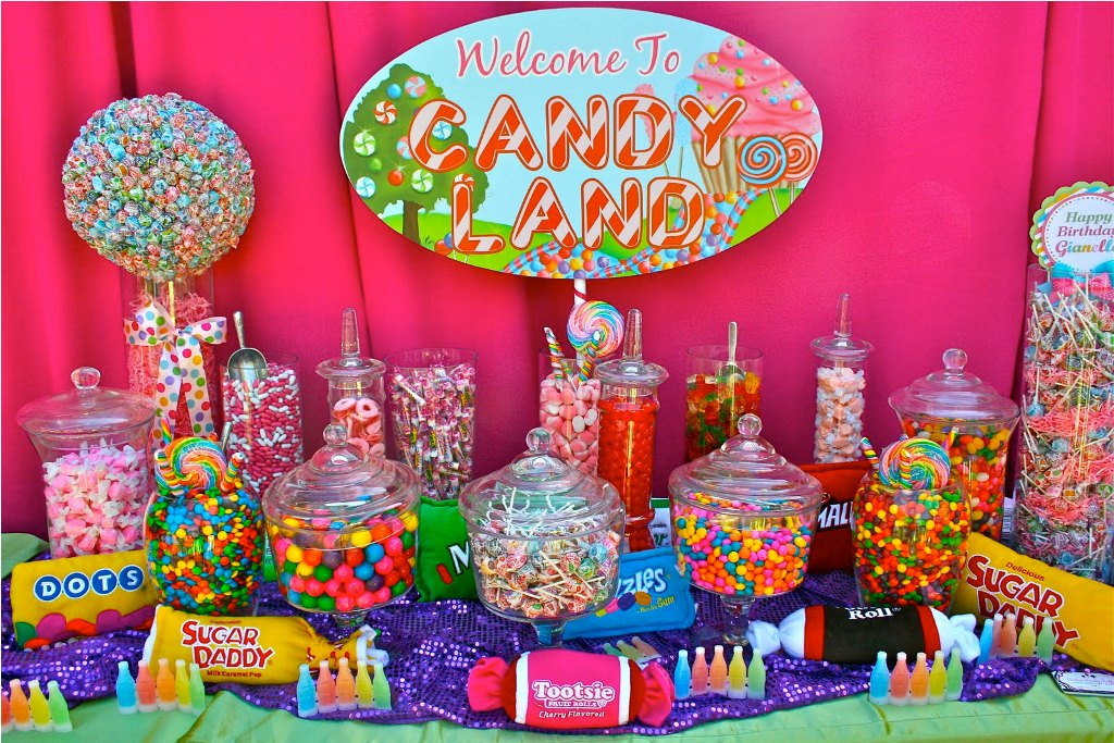 themed birthday party supplies ; candy-themed-birthday-party-supplies