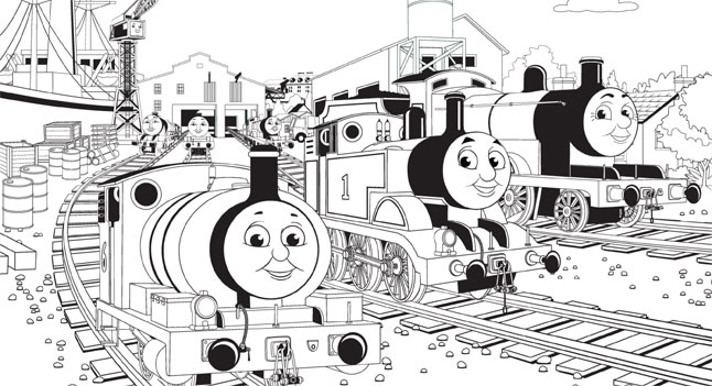 thomas the tank engine coloring pages birthday ; thomas-coloring