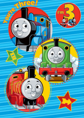 thomas the train birthday card printable ; thomas-the-train-birthday-card-rectangle-potrait-blue-red-green-yellow-thomas-the-tank-and-friends-birthday-card-with-badge-age-3