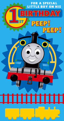 thomas the train birthday card printable ; thomas-the-train-birthday-card-rectangle-potrait-blue-yellow-red-thomas-the-tank-engine-for-a-special-little-boy-on-his-1st-birthday-card