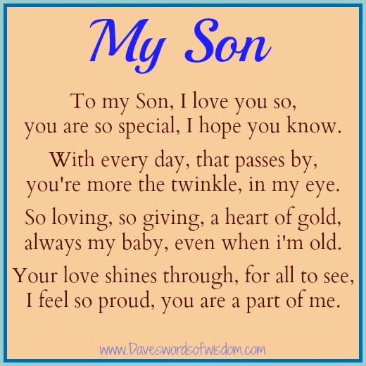 to my son on his birthday poem ; My+Son