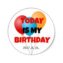 today is my birthday sticker ; today_is_my_birthday_colorful_balloons_celebration_classic_round_sticker-r6be1fb9720804496b5632d5e656066d0_v9waf_8byvr_216