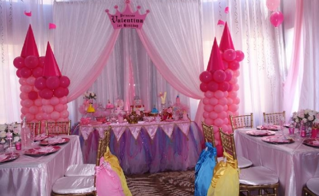 toddler birthday party themes ; Princess-Theme-Party