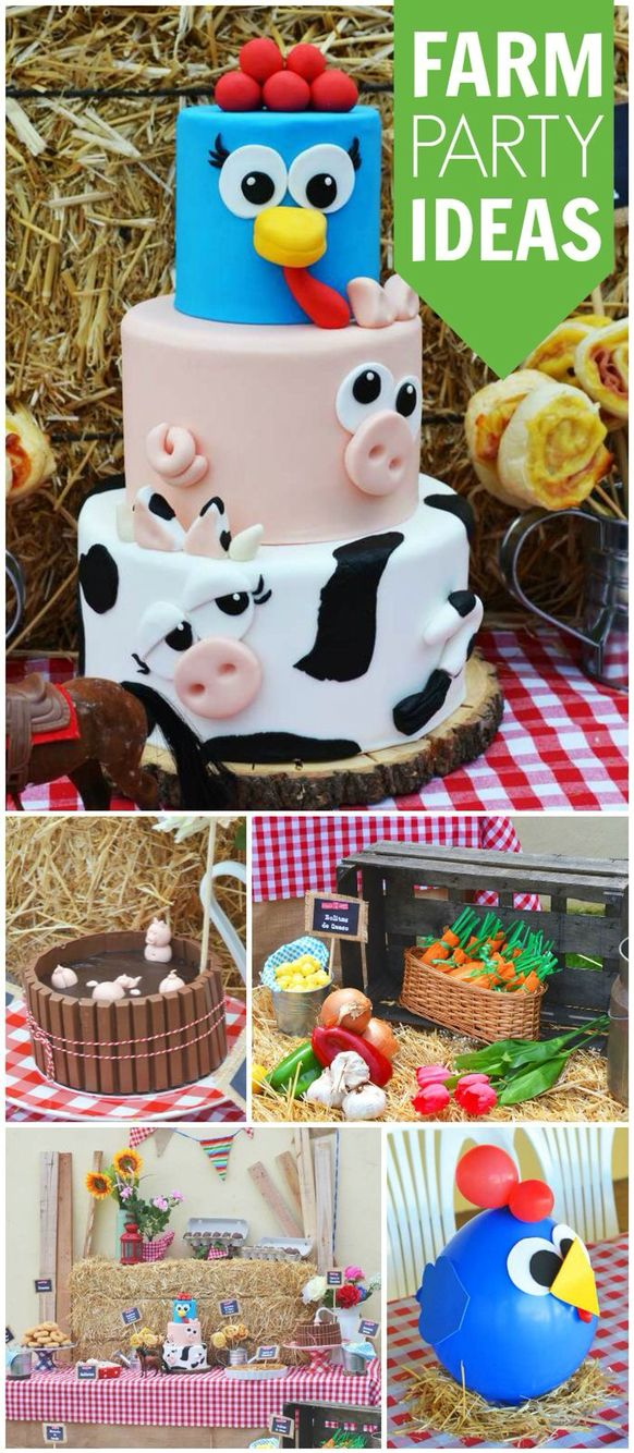 toddler birthday themes ; 51c67e836ebc19844828fb5f0be9a8e2--rd-birthday-farm-birthday-party-cakes