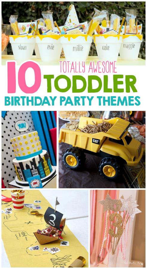 toddler birthday themes ; BirhdayCollage