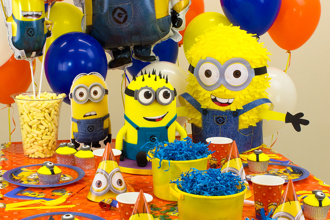 toddler birthday themes ; minion-theme