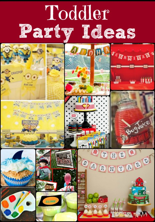 toddler birthday themes ; toddler-party-ideas