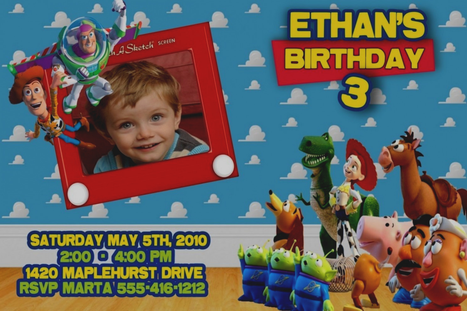 toy story birthday party invitation wording ; elegant-toy-story-birthday-invitations-personalized-party-ideas