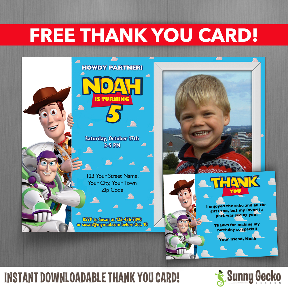 toy story photo birthday party invitations ; Toy-Story-Invitations-with-Free-Thank-You-Card-1000x1000