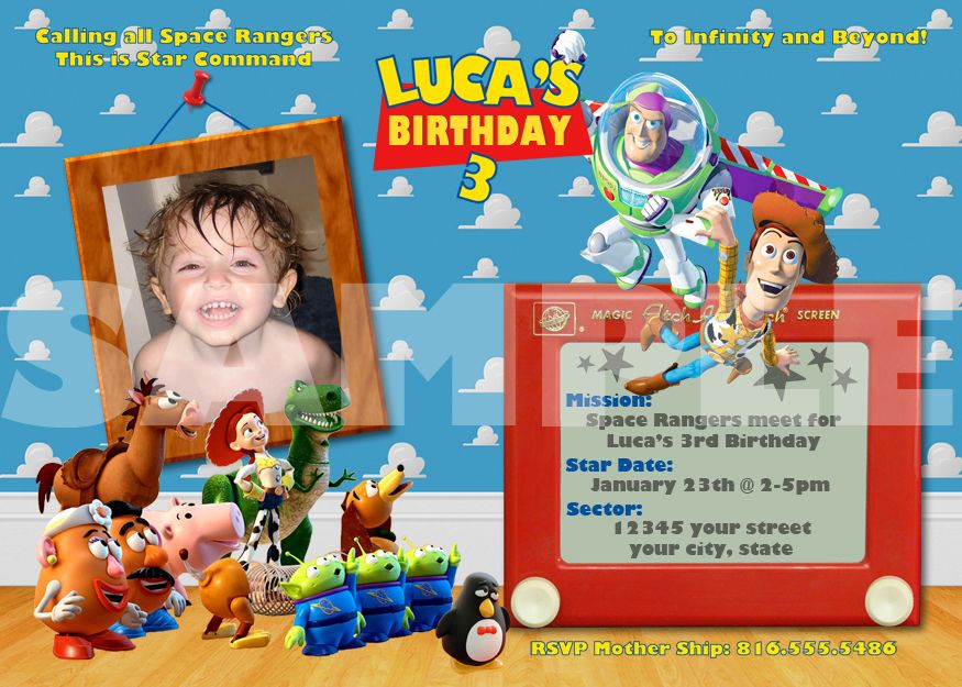 toy story photo birthday party invitations ; f87f6f6a700ee0f0ed0236d023cde863
