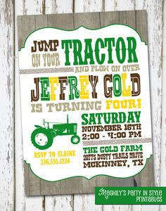 tractor birthday invitation templates ; tractor-birthday-invitations-together-with-a-picturesque-view-of-your-Birthday-Invitation-Templates-using-nice-looking-invitations-10-236x300