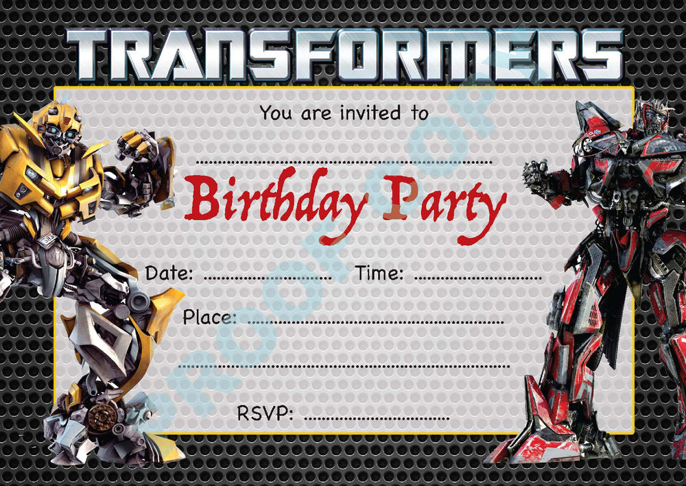 transformers photo birthday invitations ; transformers-birthday-invitations-and-the-invitations-of-the-Birthday-Invitation-Templates-to-the-party-sketch-with-cool-idea-6