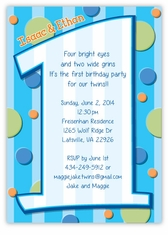twins first birthday photo invitations ; first-birthday-boy-twins-birthday-invitation-4