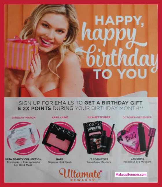 ulta birthday gift sign up ; Ulta-2018