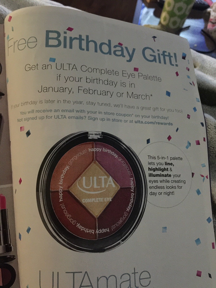 ulta birthday gift sign up ; i5nvoz2