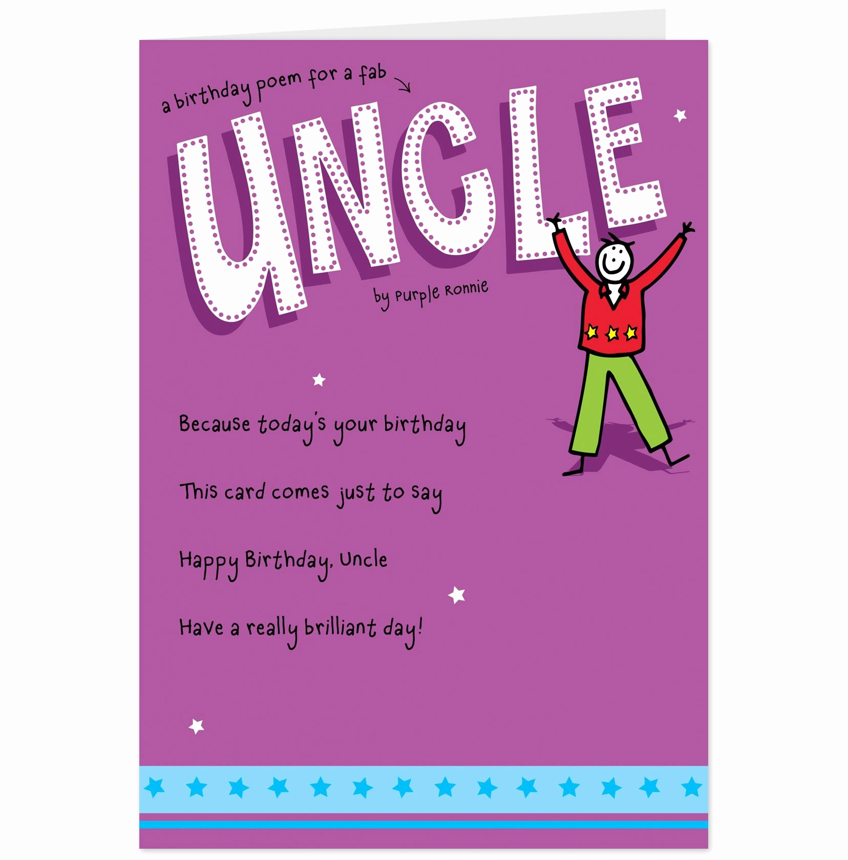 Uncle Birthday Card Messages Luxury Funny