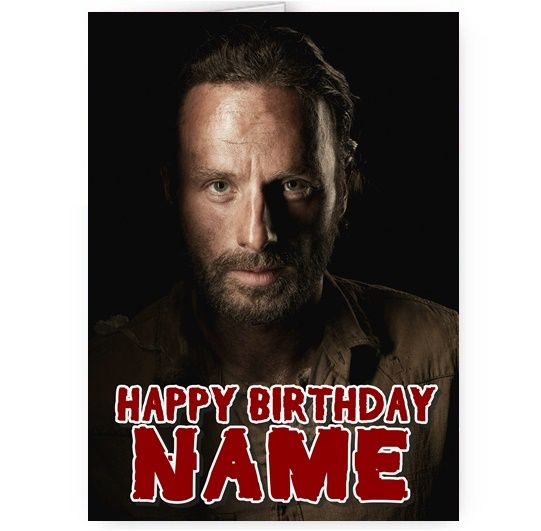 walking dead happy birthday ; personalised-any-name-rick-walking-dead-a5-happy-birthday-card-3707-p