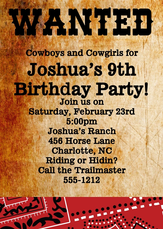 wanted birthday invitation template ; Wanted-poster-western-birthday-invitations