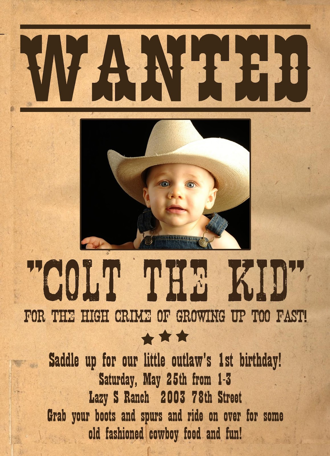 wanted birthday poster ; c9442547893bf9b760b19b808b1d612e