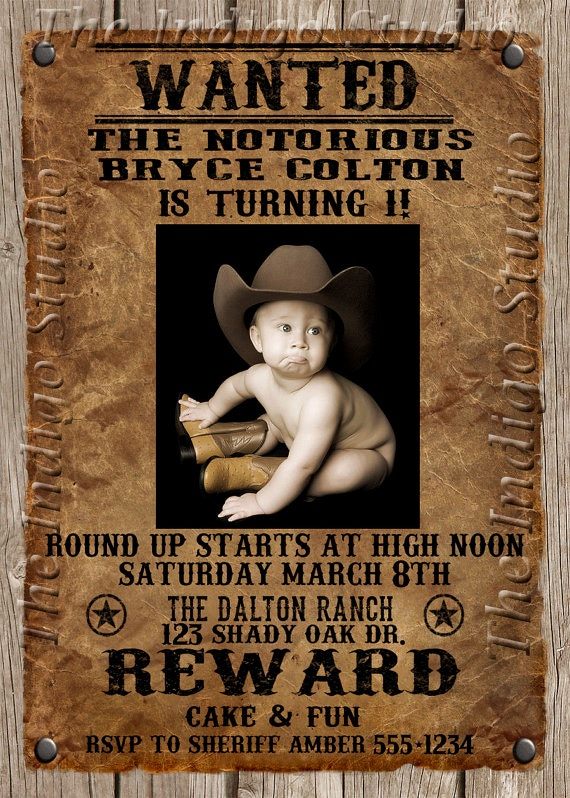 wanted birthday poster ; creative-wanted-poster-invitation-and-interesting-ideas-of-cowboy-birthday-party-photo-posters-5