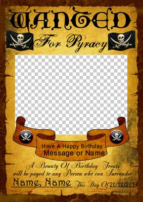 wanted birthday poster ; cup529822_1446