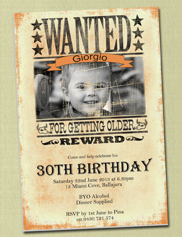 wanted birthday poster ; il_570xN
