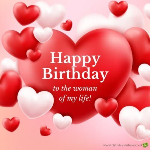 wife birthday card message ; Happy-Birthday-wish-for-wife-on-romatic-red-background-with-hearts-500x500