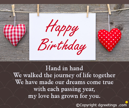wife birthday card message ; wife-birthday-card-message-creative-design-hanging-love-pillows-stripe-polka-dots-pattern-each-passing-years-pinterest-sweet-wording