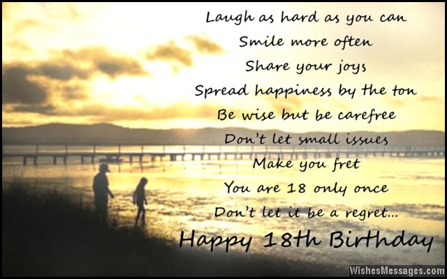 wise happy birthday quotes ; Inspirational-18th-birthday-card-wishes