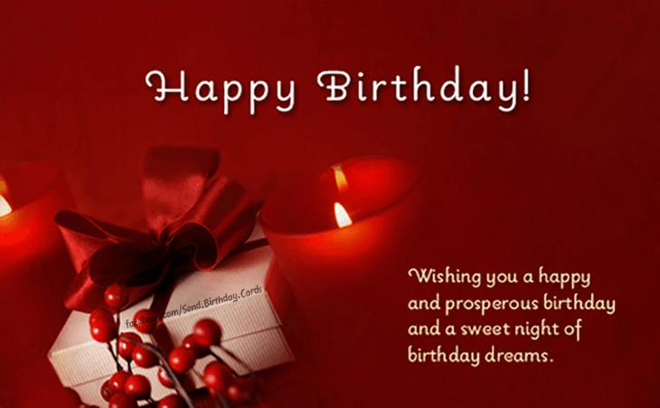 wish you a very happy and prosperous birthday ; slika