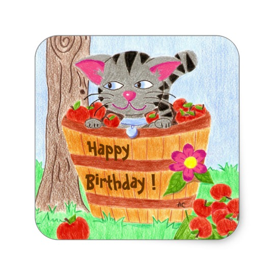 zazzle birthday stickers ; cute_cat_birthday_stickers-reea7e4b2753e47c694ef6f303042e690_v9wf3_8byvr_540