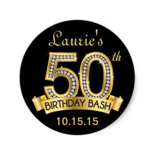 zazzle birthday stickers ; diamond_50th_birthday_stickers_black_and_gold-rd02086102b074a799c2a2c20042f8bec_v9waf_8byvr_307