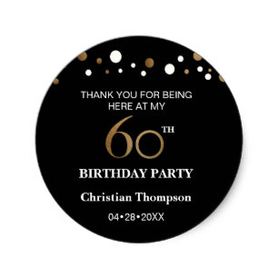 zazzle birthday stickers ; gold_and_black_theme_60th_birthday_round_sticker-r3f7f1f76ee754d31b59569a0e8656acf_v9waf_8byvr_307
