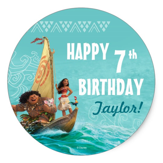 zazzle birthday stickers ; moana_oceanic_birthday_classic_round_sticker-rf9ce737bc539479bba0035d8f35ed70e_v9wth_8byvr_540
