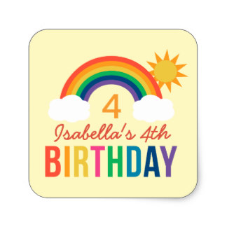 zazzle birthday stickers ; yellow_birthday_party_favor_rainbow_colors_square_sticker-r22117b7aa71743f4adc0037c5533f456_v9wf3_8byvr_324