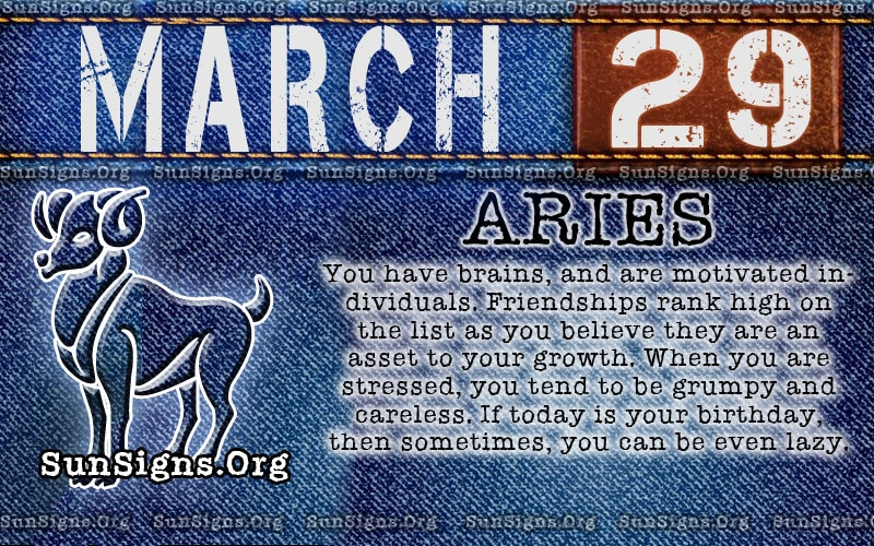 zodiac sign march 10 birthday ; march29