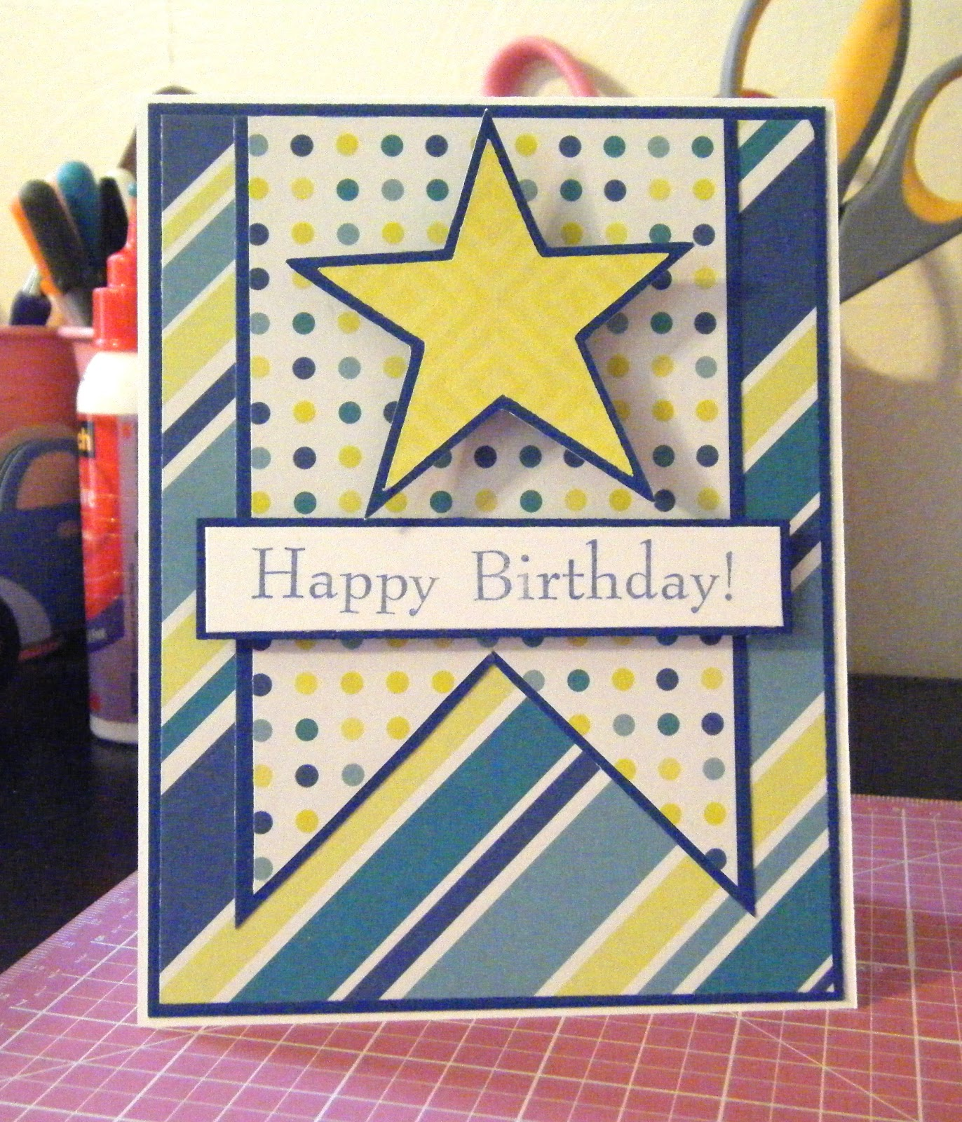 12 year old boy birthday card ideas ; blue+star+bday+1