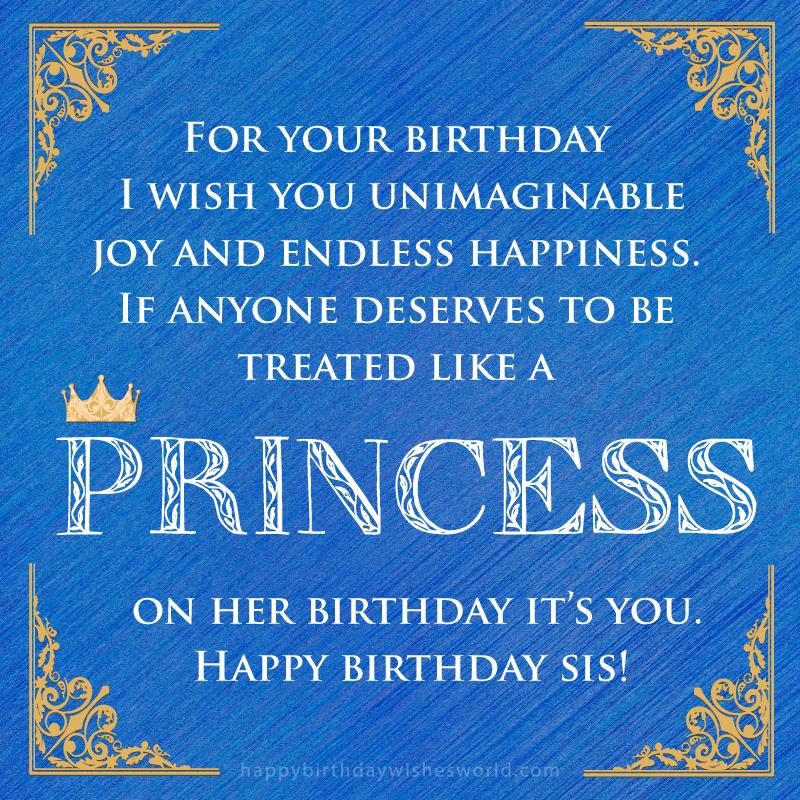 12th birthday message ; Happy-birthday-princess-sister