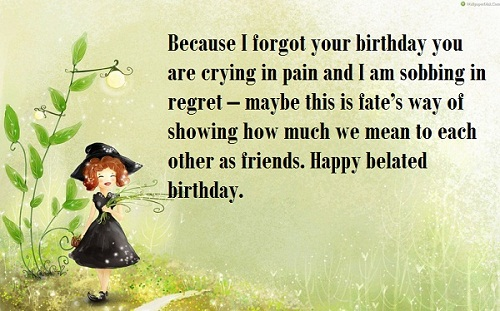 12th birthday message ; crying-in-pain-belated-birthday-wishes