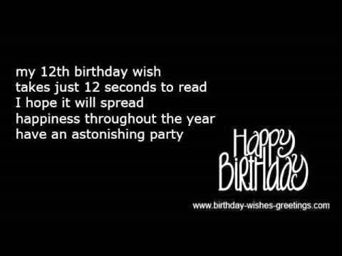 12th birthday message ; hqdefault