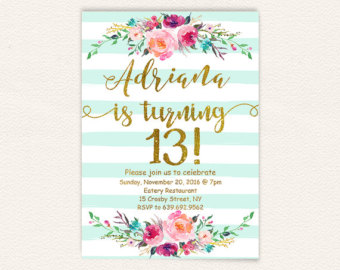 13th Birthday Invitation Ideas Invitations Combined With Your