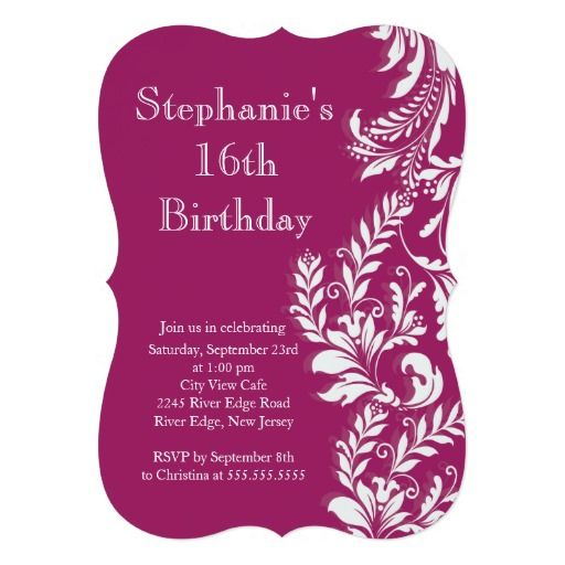 16 birthday party invitation cards ; 16782ca3fc4453492db1a5744c2f9fab--invitation-cards-party-invitations