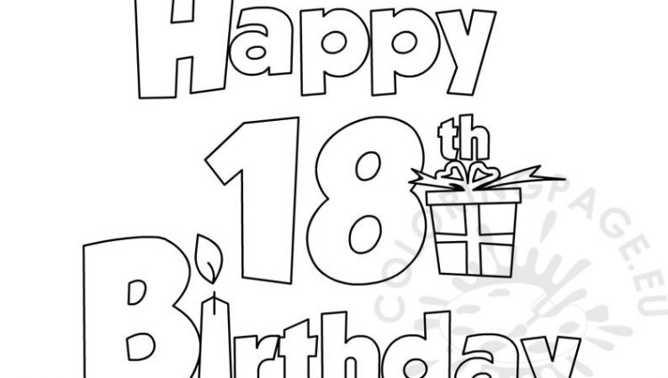 18th birthday coloring pages ; 18th-birthday-coloring-pages-happy-18-birthday-coloring-page-download-750x425