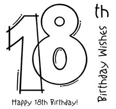 18th birthday coloring pages ; e7daed2ad4e8a6cc2c27ddb0145de3dc--birthday-blessings-birthday-numbers