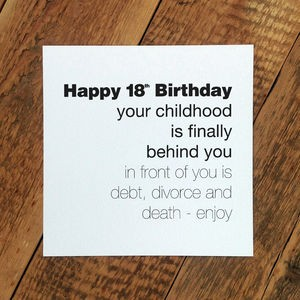 18th birthday jokes card ; 18-year-old-birthday-cards-luxury-funny-18th-birthday-card-childhood-is-behind-you-of-18-year-old-birthday-cards