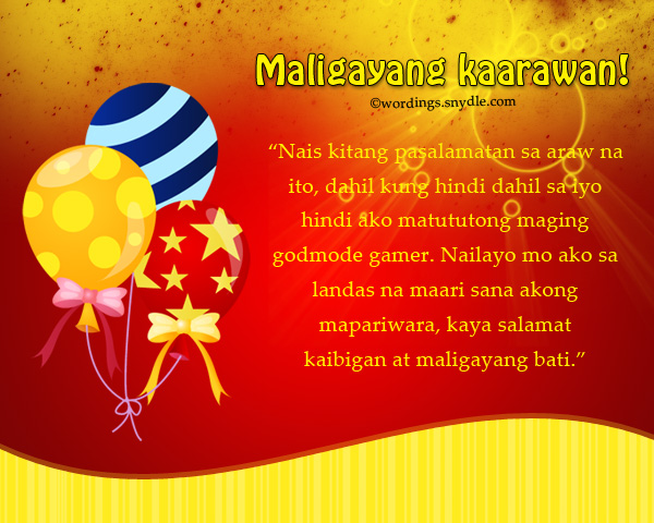 18th birthday message for best friend tagalog ; birthday-wishes-messages-in-tagalog