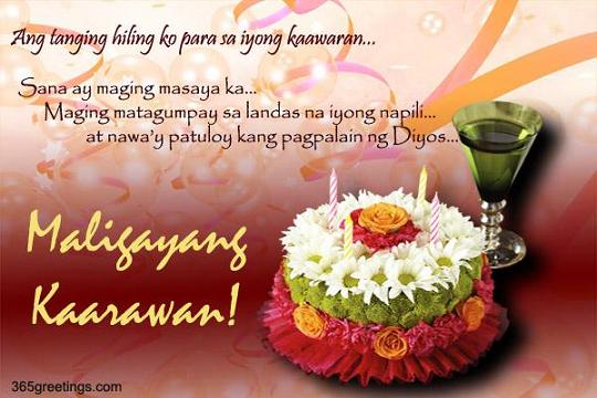 18th birthday message for best friend tagalog ; tagalog-birthday-greetings