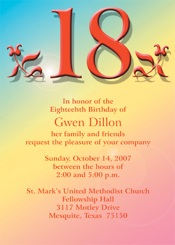 18th birthday party invitation wording ; 18th_001_in